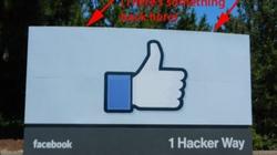 Bất ngờ đằng sau tấm biển của Facebook