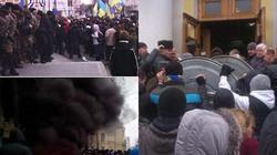 Ukraine: Miền Đông tạm ngưng tiếng súng, miền Trung lại hỗn loạn vì biểu tình