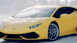 Chiêm ngưỡng Lamborghini Huracan trượt băng cực đỉnh