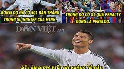 """ẢNH CHẾ: Ronaldo cười nhạo Messi, """"thánh"""" Bendtner bị M.U """"nhuộm đỏ"""""""