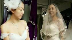 """""""Vợ hờ"""" Thành Long xúc động khi lần đầu mặc váy cô dâu"""