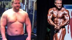 Người đàn ông 127kg bỗng cơ bắp cuồn cuộn nhờ cá cược