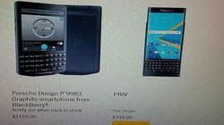 Điện thoại Blackberry Priv giá chát 749 USD