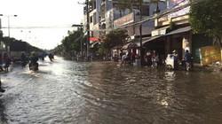 Trời không mưa, nhiều nơi ở Cần Thơ vẫn ngập nước