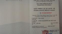 Từ tháng 12, cấp GPLX quốc tế ở hai thành phố lớn