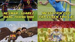 """ẢNH CHẾ: """"Quái vật"""" Barca tấn công Real, Ibrahimovic bị """"đá đểu"""""""
