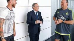 Chủ tịch Perez xếp đội hình Real đá El Clasico?