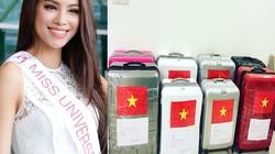Phạm Hương mang 8 va li hành lý đến Hoa hậu Hoàn vũ