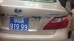 Lexus tiền tỷ bị tạm giữ vì nghi đeo biển xanh giả