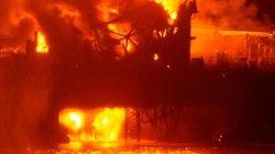 Cháy giàn khoan dầu trên biển Caspian, 30 người mất tích