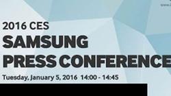 Samsung chốt ngày họp báo tại CES 2016