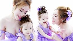 Bộ ảnh đong đầy tình cảm của Elly Trần và con gái