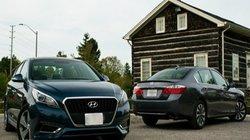 So kè Honda Accord Hybrid 2015 và Hyundai Sonata Hybrid 2016