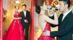 Á hậu Diễm Trang khoe lưng trần gợi cảm trong lễ cưới