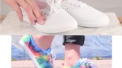 Hô biến giày cũ thành giày 7 sắc cầu vồng cực chất chơi