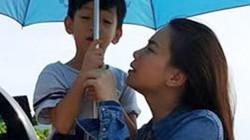 Hà Hồ đưa con trai về quê Quảng Bình cứu trợ dân vùng lũ