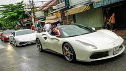 """Ferrari 488 GTB của Cường """"đô-la"""" dẫn đầu đoàn siêu xe diễu phố"""