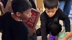 Xúc động con trai 6 tuổi của Hà Hồ giúp bà con vùng lũ