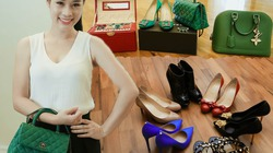 Loạt hàng hiệu toàn màu xanh lá của vợ NSƯT Việt Hoàn