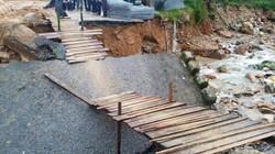 Quảng Nam: Sạt lở, sập cầu làm tê liệt nhiều tuyến đường miền núi