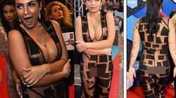 Mỹ nữ Anh luống cuống vì bộ đồ hở tới 80% cơ thể
