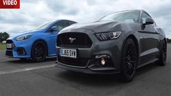 """Xem """"cuộc đối đầu"""" giữa Focus RS với Mustang GT"""
