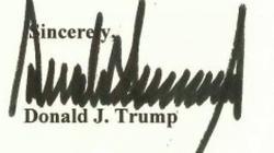 Chữ ký cao và dài của Donald Trump nói lên điều gì?