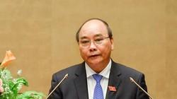 Thủ tướng Nguyễn Xuân Phúc đang trả lời chất vấn Quốc hội