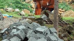 Công ty CP Đại Tín ngang nhiên khai thác đá trái phép
