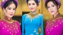 Huyền My e ấp với áo dài, đẹp lấn át cả dàn mỹ nhân Việt