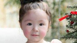"""Con gái Elly Trần má đỏ như cà chua, xinh như công chúa gây """"sốt"""""""