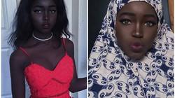 Nhan sắc đẹp lạ của cô gái có làn da đen ấn tượng