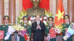 Quân đội Việt Nam có thêm 4 thượng tướng