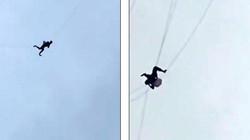 Video: Trốn trả tiền phòng khách sạn, bị kẹt trên dây cách đất 60m