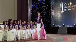 Nụ hồng lai gây cười vì catwalk thi hoa hậu như bà già múa lụa