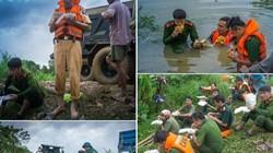 Những hình ảnh xúc động trong mưa lũ đang được dân mạng chia sẻ