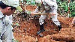 Phát hiện hầm chứa 27 quả đạn pháo 105mm trong vườn nhà dân