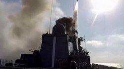 Máy bay ném bom và tàu ngầm Nga giáng đòn tên lửa tất công IS