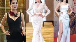 Sao mặc đẹp: Trúc Diễm rực sắc đỏ, Bảo Anh diện váy xẻ cao đến hông