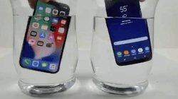 """BẤT NGỜ: iPhone X """"chết sặc"""", Galaxy S8 vẫn sống trong nước lạnh"""