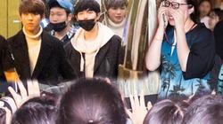Fan Việt đập kính xe, òa khóc khi gặp thần tượng xứ Hàn