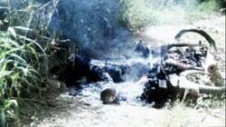 Người đàn ông chết cháy cạnh xe máy