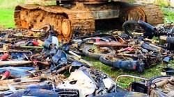 """Tiêu hủy hơn 30 xe """"độ"""" lâm tặc dùng để chở gỗ lậu trốn kiểm lâm"""