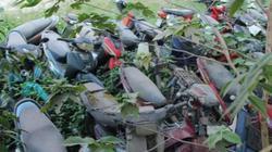 """Hà Nội: Xót xa nhìn hàng nghìn xe máy """"xịn"""" biến thành sắt vụn"""