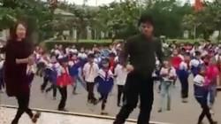 Clip: Trường quê tập thể dục bằng điệu nhạc Disco đã mắt