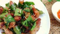 Thịt chiên lá mắc mật giòn mềm, thơm phức càng ăn càng mê