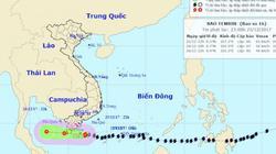 """Bản tin bão 23h30: Bão Tembin sẽ """"sức tàn lực kiệt"""" khi tới Cà Mau"""