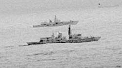 Tàu khu trục Anh chạm trán tàu chiến Nga ở Biển Bắc
