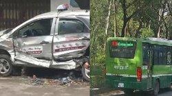 Clip hot tổng hợp: Bán tải đâm taxi nát bét, xe buýt đi ngược chiều