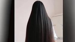 Mái tóc siêu khỏe gây choáng vì có thể dùng làm... xích đu